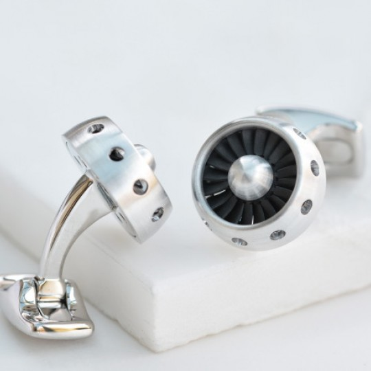 Jet Engine Cufflinks