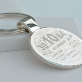 Personalised Tax Disc Keyring