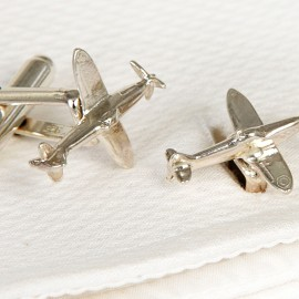 Solid Silver Spitfire Cufflinks