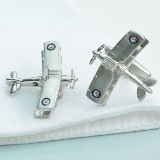 Tiger Moth Bi-Plane Cufflinks