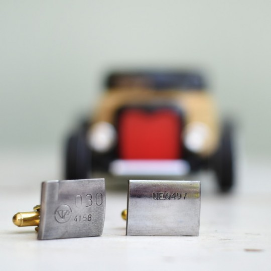 Original Bentley Engine Part Cufflinks