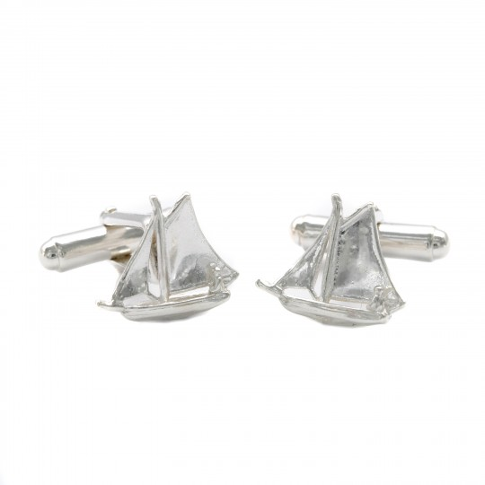 Sailing Boat Cufflinks - Solid Silver