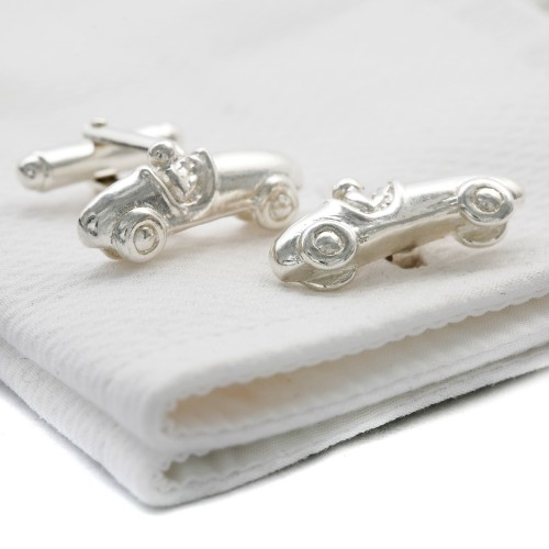 Solid Silver Bugatti Cufflinks