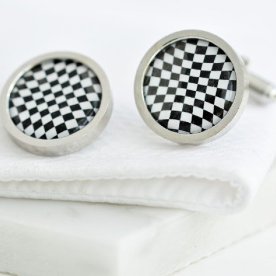 Chequer Flag Cufflinks