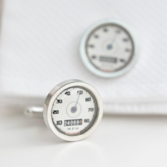 Personalised Cream Speedometer Cufflinks