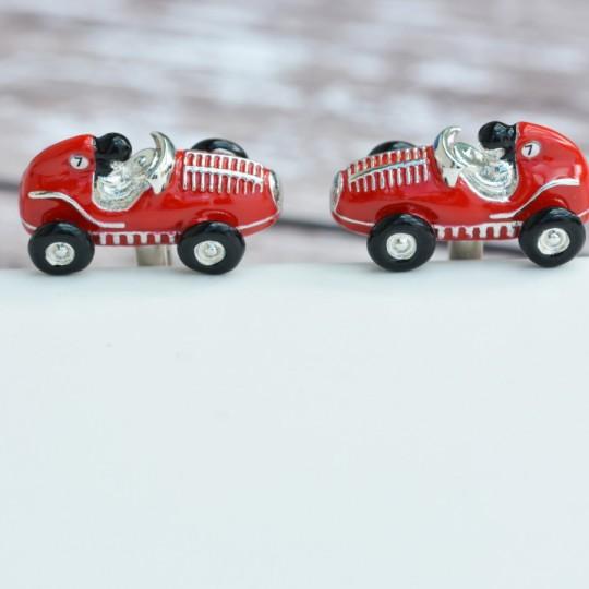 Red Racing Car Cufflinks