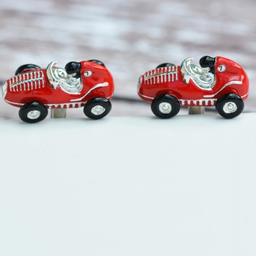 Red Racing Car Cufflinks
