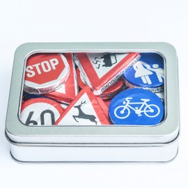 Wheels Chocolate Road Signs
