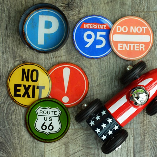 Route 66 Road Sign Coasters