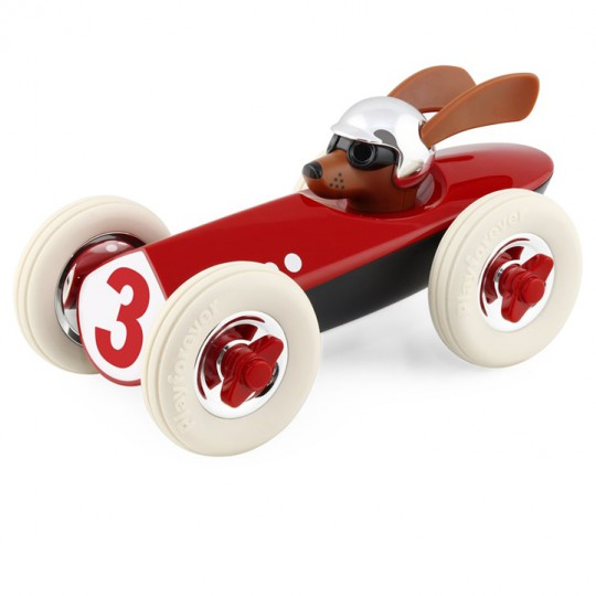 Rufus the Dog Racing Car Red
