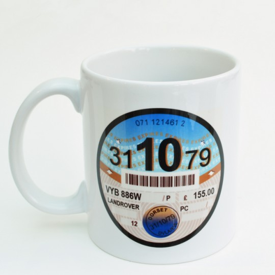Personalised Tax Disc Mug