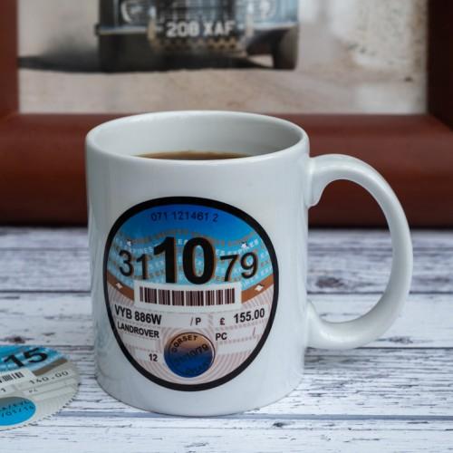Personalised Tax Disc Mug