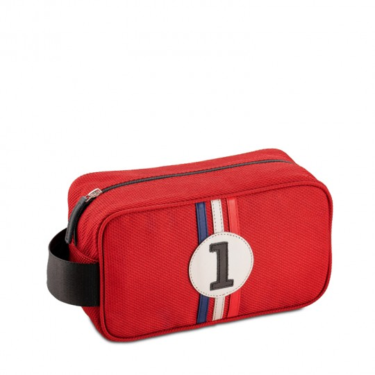 Racing Number Red Wash Bag No1
