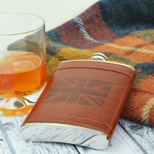 Union Jack Hip flask