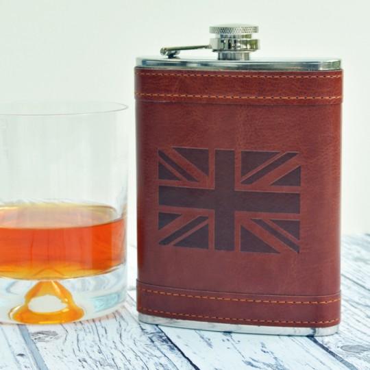 Union Jack Hip flask