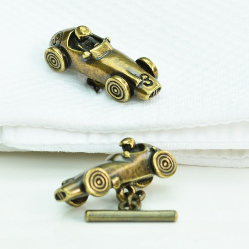 Vintage Racing Car Cufflinks